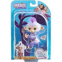 Fingerlings Glitter Monkey - Kiki (Purple Glitter) - Interactive Baby Pet - By WowWee