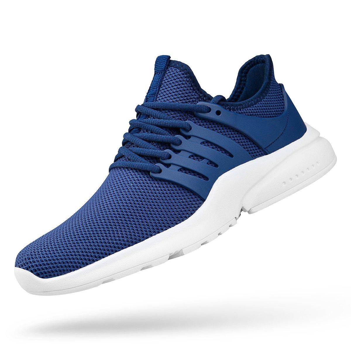 bluee White Mxson Women's Ultra Lightweight Breathable Mesh Street Sport Walking shoes Casual Sneakers