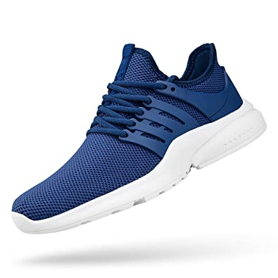 c4f25ca6ad818 ZOCAVIA Men's Sneakers Ultra Lightweight Breathable Mesh Athletic Running  Shoes Blue White 9.5 D(M) US