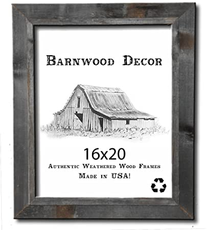 Amazon.com - 16x20 Picture Frames - Barnwood Reclaimed Signature ...