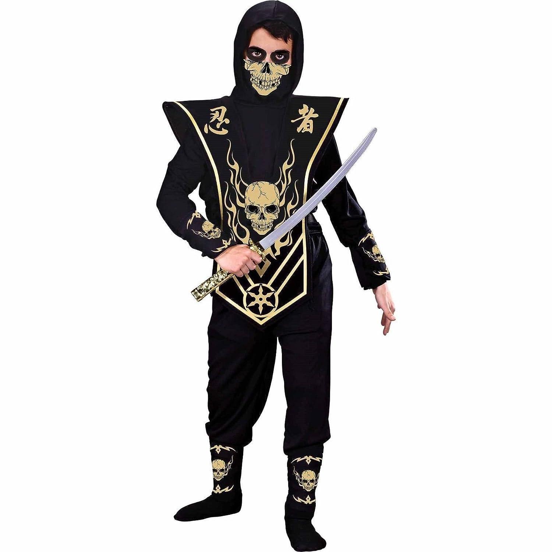 Amazon.com: GOLD SKULL NINJA COSTUME BOYS LARGE: Toys & Games
