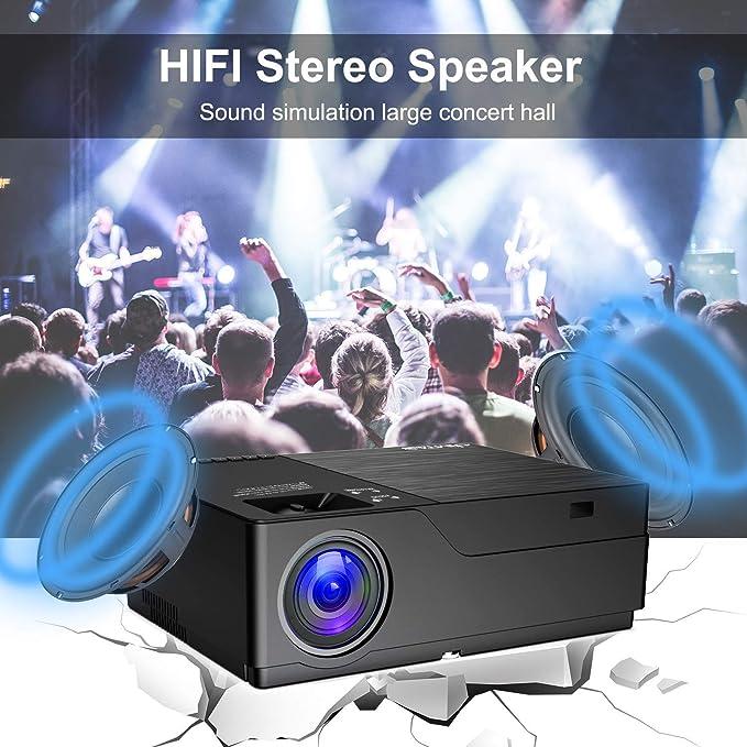 JIMTAB M18 Native 1080P Proyector LED y de vídeo, 4500 Lux HD ...