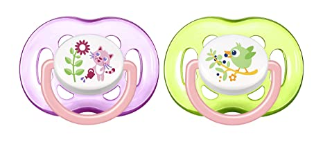 Amazon.com: Avent 2 Succhietti Air18m+girl: Health ...