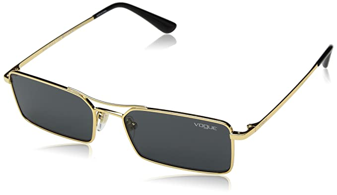 97315284e7 VOGUE Women's 0vo4106s Rectangular Sunglasses, Gold, 55 mm: Amazon ...