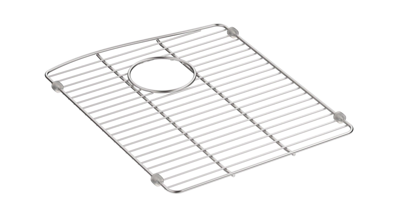 """Kohler 5662-ST Kennon Neoroc Stainless Steel Sink Rack, 13 5/8"""" x 16 1/2"""", for Left-Hand Bowl by Kohler"""