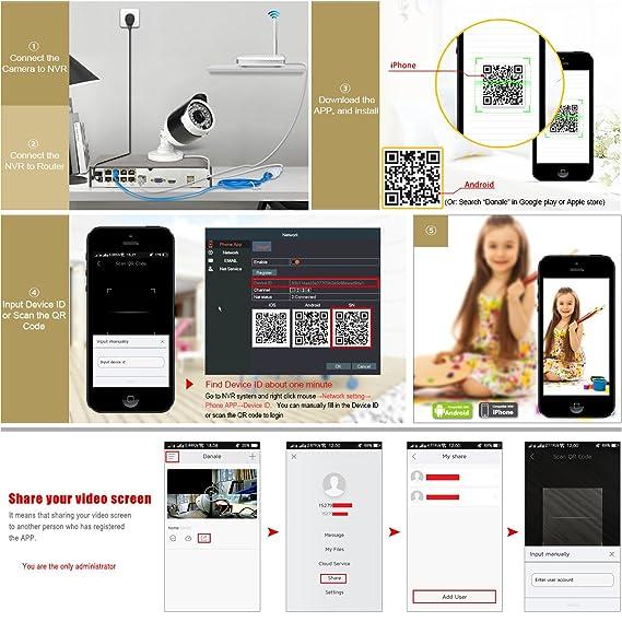 ANRAN 1080P Kit 8 Cámaras de Seguridad PoE 8CH Kit Cámaras de Vigilancia Exterior 2MP Sistema Cámaras de Seguridad CCTV PoE NVR 8CH 8 Cámaras de ...