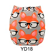 ALVABABY New Printed Design Reuseable Washable Pocket Cloth Diaper Nappy + 2 Inserts YD18