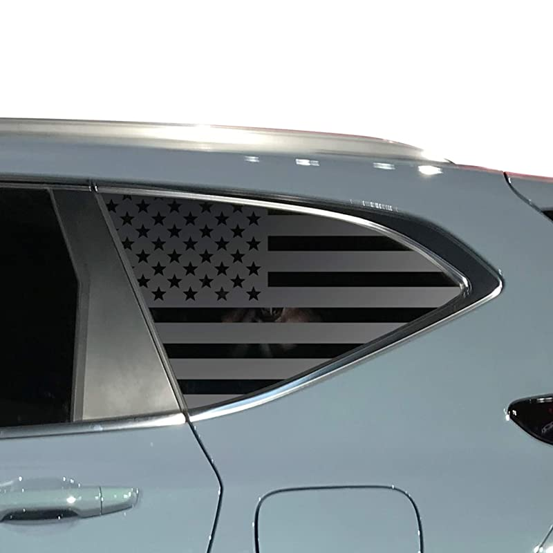 Custom Design QR3-HP3.A Distressed USA Flag Decals For 2016-2020 Honda Pilot 4 door rear Windows