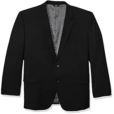 J.M. Haggar Men's Big and Tall B&t 4-Way Stretch Solid Gab Slim Fit Suit Separate Coat at Amazon Men's Clothing store