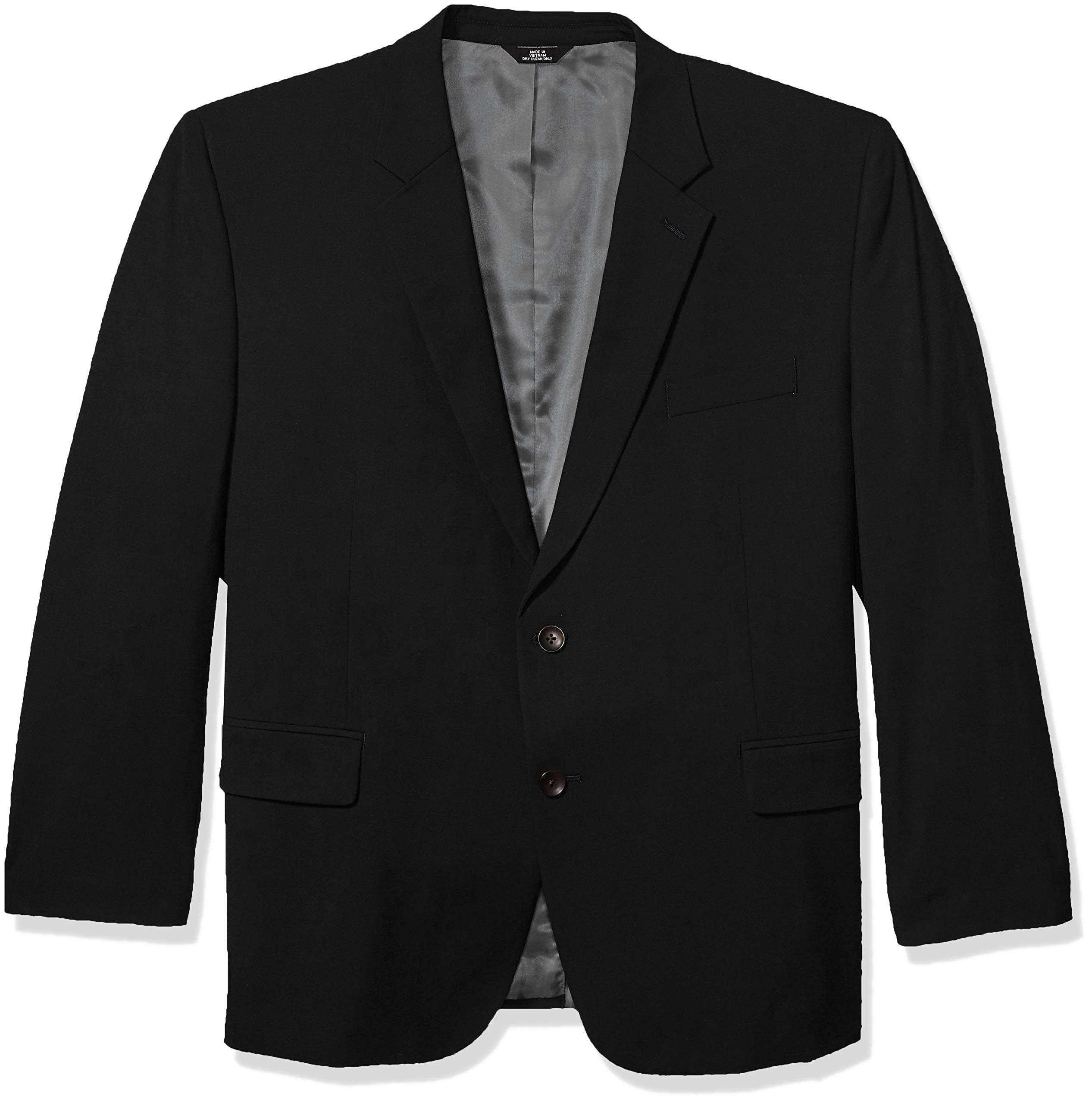 J.M. Haggar Men's Big and Tall B&T 4-Way Stretch Solid Gab Slim Fit Suit Separate Coat, Black, 50S by J.M. Haggar