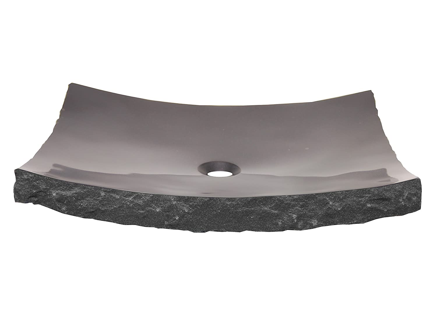 Gentil Eden Bath EB_S014BK P Large Black Granite Zen Stone Vessel Sink      Amazon.com