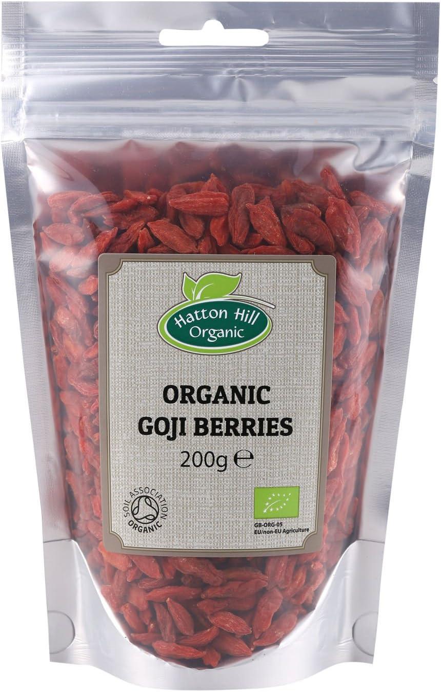 Organic Goji Berries 200g By Hatton Hill Organic Free Uk