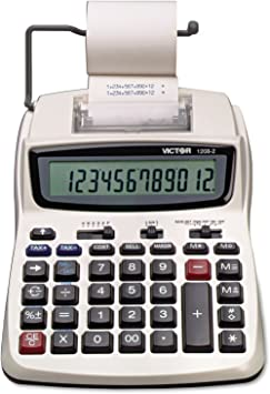 Victor 12082 1208-2 Two-Color Compact Printing Calculator, Black/Red Print, 2.3 Lines/Sec
