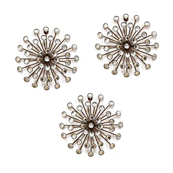 Attirant Amazon.com: Stratton Home Decor SHD0120 Burst Wall Decor, Set Of 3, Gold:  Home U0026 Kitchen