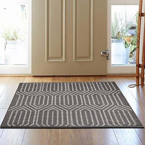 HEBE Indoor Doormat 32 x 48 Front Door Mat Non Slip Super Absorbent Mud Mat Entrance Door Rug Welcome Mat Machine Washable Floor Carpet Entrance Way Rug Geometric