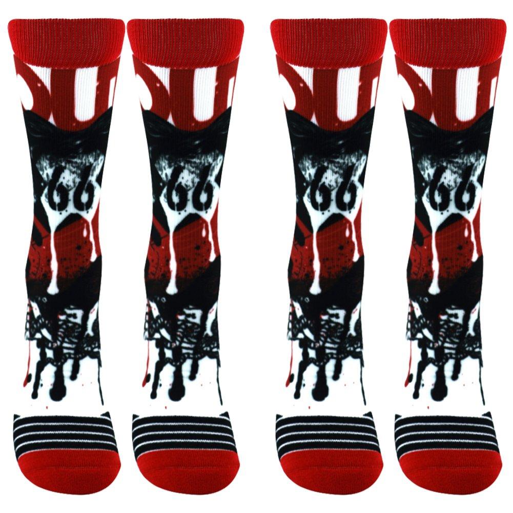 WXXM SOCKSHOSIERY メンズ B0749KMZHX 2 Pairs-funky Socks B02 2 Pairs-funky Socks B02