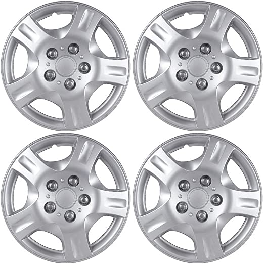 Amazon Com Oxgord 15 Inch Hubcaps Best For