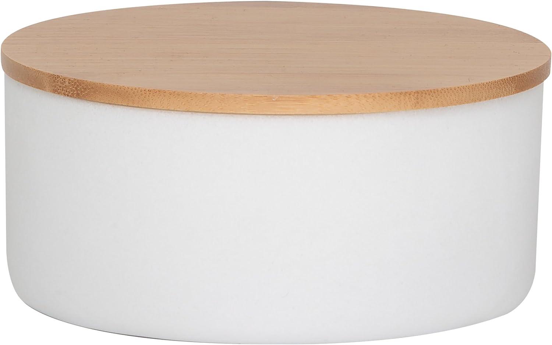 Marmo Colato Sealskin Grace Portagioie Bianco Legno 13,3 x 6,5 x 13,3 cm