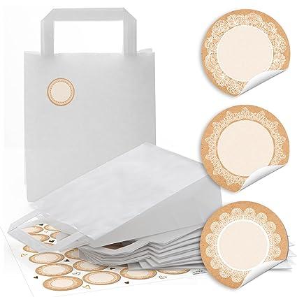 10 pequeñas blancas bolsas de papel Bolsa de Regalo Bolsas ...