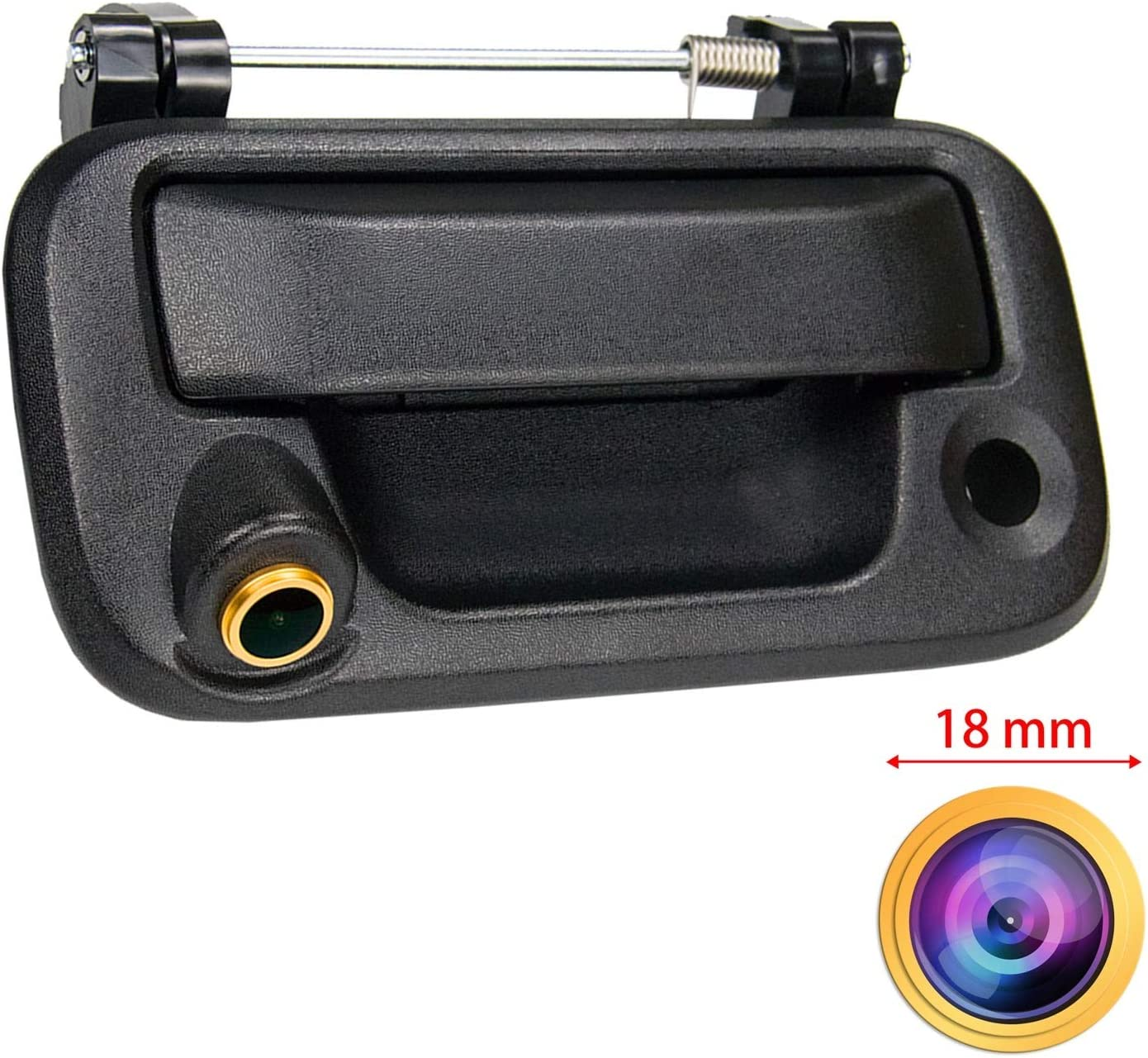 HD 1280x720p Golden Camera Reversing Camera Integrated in Trunk Handle Rear View Backup Parking Camera Replacement for Pick-up Ford F150 F250 F350 F450 F550 2005-2014