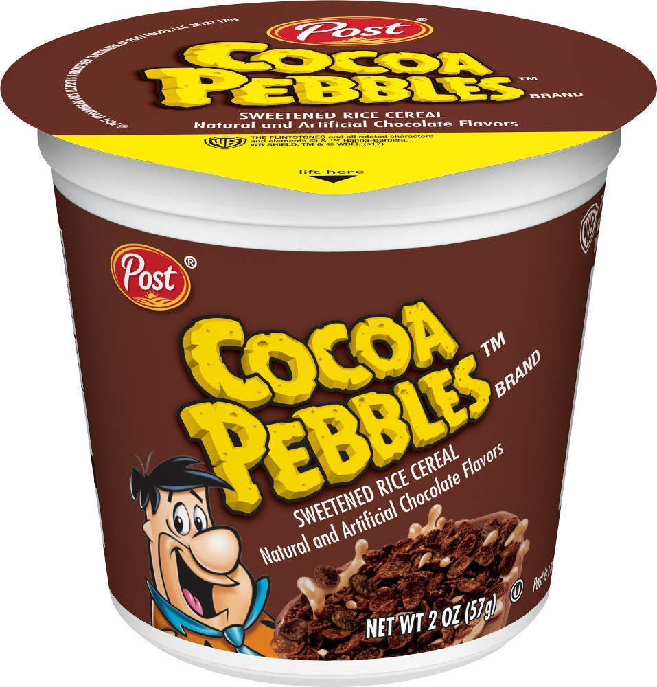 Post Cocoa Pebbles Gluten Free Cereal Cups, 2.1-Ounce, 12 Count by Post