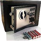 Yuanshikj Electronic Deluxe Digital Security Safe Box Keypad Lock Home Office Hotel Business Jewelry Gun Cash Use Storage mon