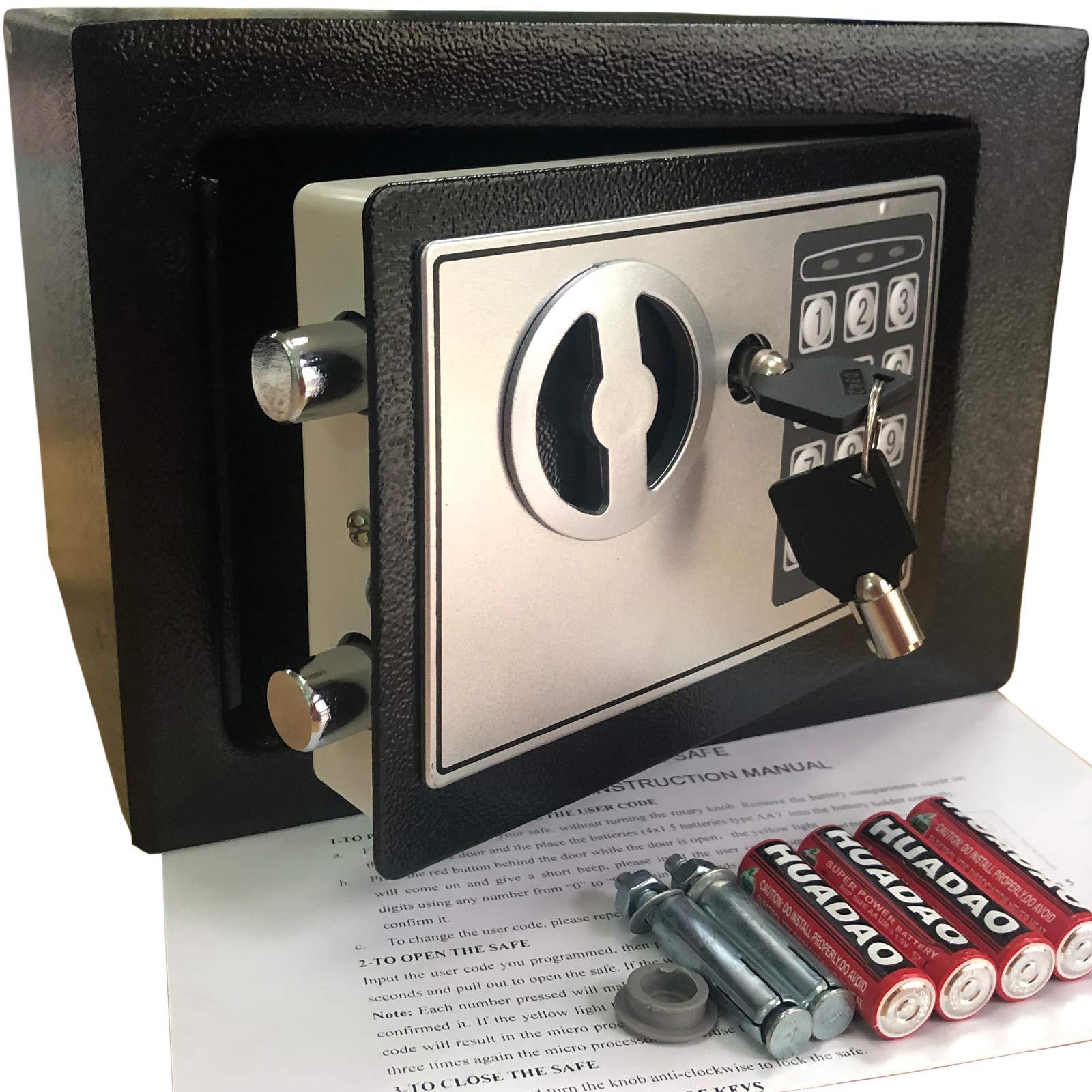 Yuanshikj Electronic Deluxe Digital Security Safe Box Keypad Lock Home Office Hotel Business Jewelry Gun Cash Use Storage Money (Black 1) by Yuanshikj