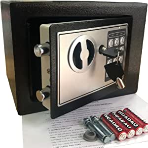 Electronic Deluxe Digital Security Safe Box Keypad Lock Home Office Hotel Business Jewelry Gun Cash Use Storage 17E Black 1