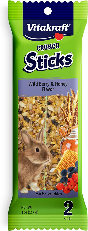 Vitakraft Rabbit Sticks And 4-Ounce Bag