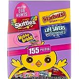 SKITTLES Original, STARBURST Original, LIFESAVERS Gummies, and HUBBA BUBBA Candy Assorted Easter Egg Hunt Mix, 155 Piece Bag, 46.2 Ounce