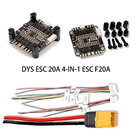 DYS 20A ESC BLheli_S mini 4-in-1 esc F20A Dshot600 / Dshot300 2-4s Race Star In Esc A Wiring Diagram on
