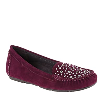 Vionic Women's Athens Moccasin Loafers Plum 6 / Med
