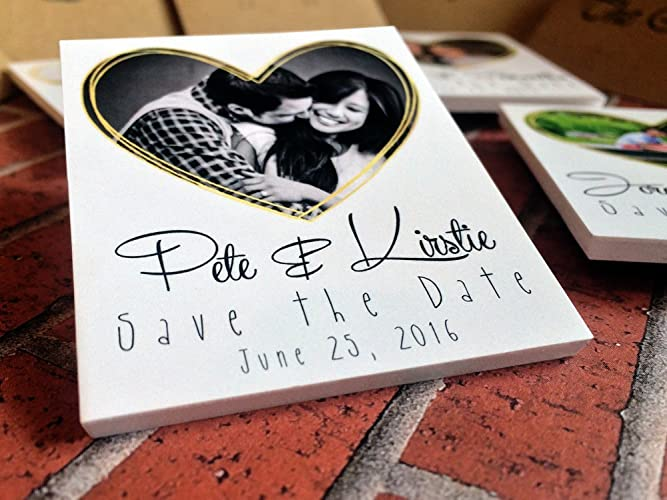 Amazon.com: 5 Handmade Save the Dates, Personalize with your Photos: Handmade