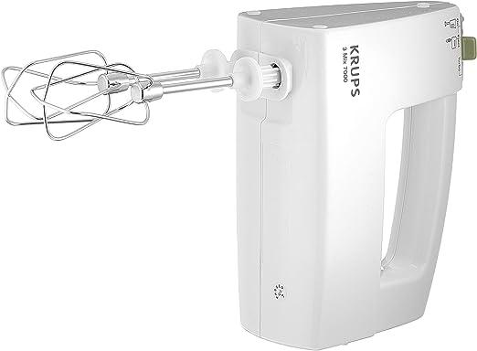 Batidora Krups F60814 con ajuste de potencia automático, regulación de velocidad sin niveles, nivel turbo, 500 W, color blanco.: Amazon.es: Hogar