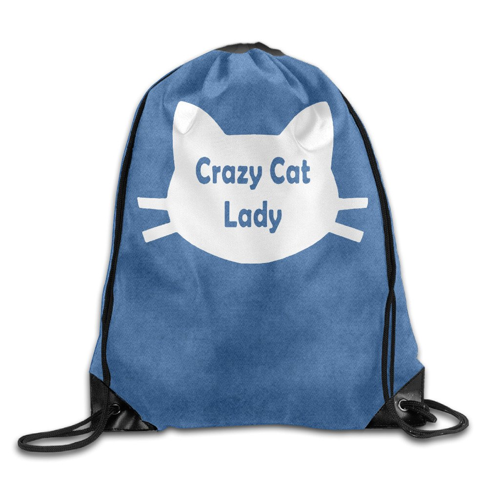Crazy Cat Lady Cat Lover Cool Drawstringバックパック文字列バッグ B01KO0D0HU   One_Size