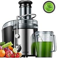 AICOK Licuadoras para Verduras y Frutas 800W Licuadoras para Zumos Centrífugo, 75mm Boca Ancha y Multi-Velocidades, Base…