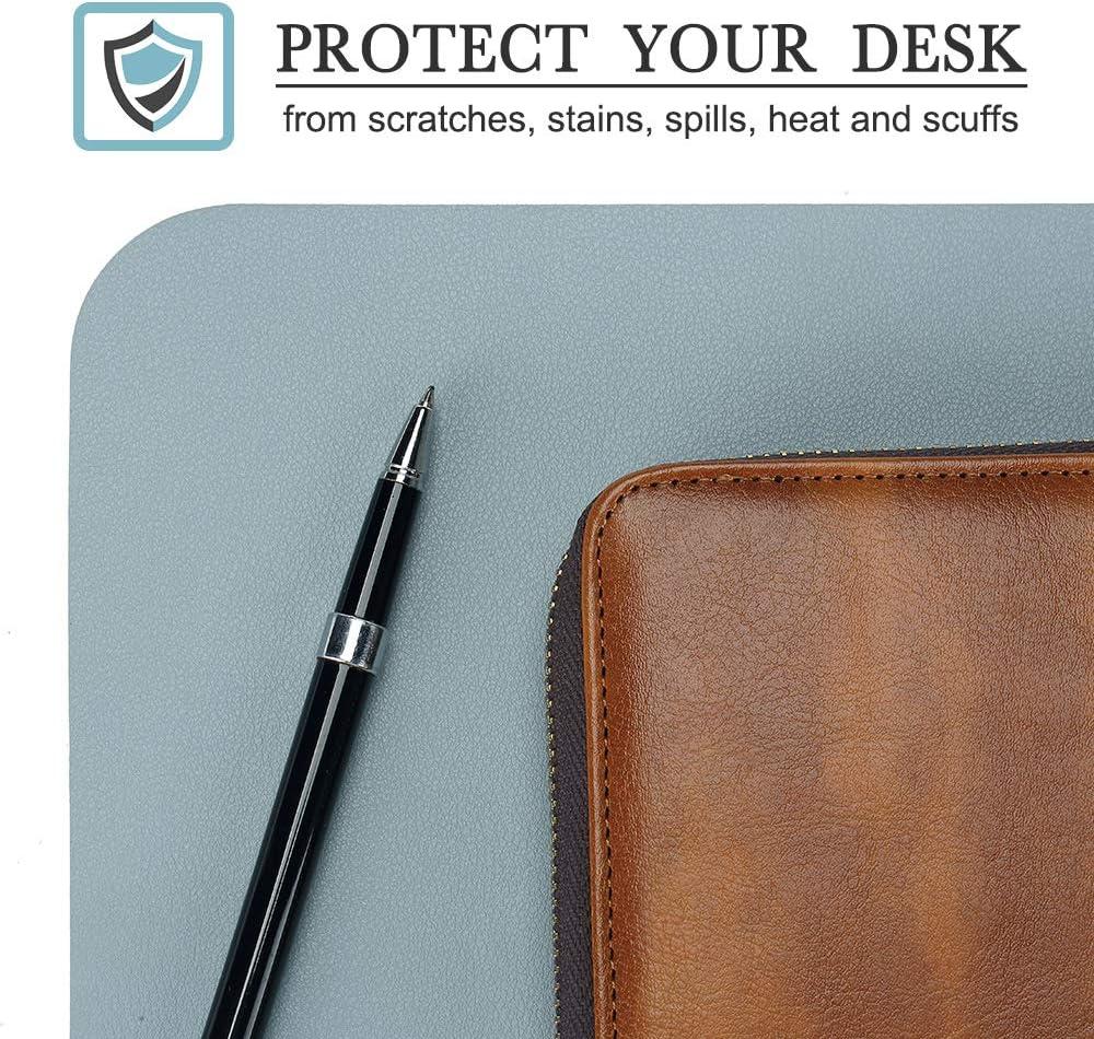 Office Desk Mat Knodel Desk Pad Waterproof Desk Writing Pad for Office and Home 40cm x 80cm PU Leather Desk Blotter Purple, 35cm x 60cm Laptop Desk Mat Dual-Sided