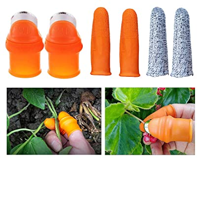 2 Pcs Picking Silicone Thumb Knife, Thumb Cutter Separator Finger Tools, Picking Device for Garden Quickly Cutting Vegetables Plant for Women Men (SZIE for MEN): Home Improvement