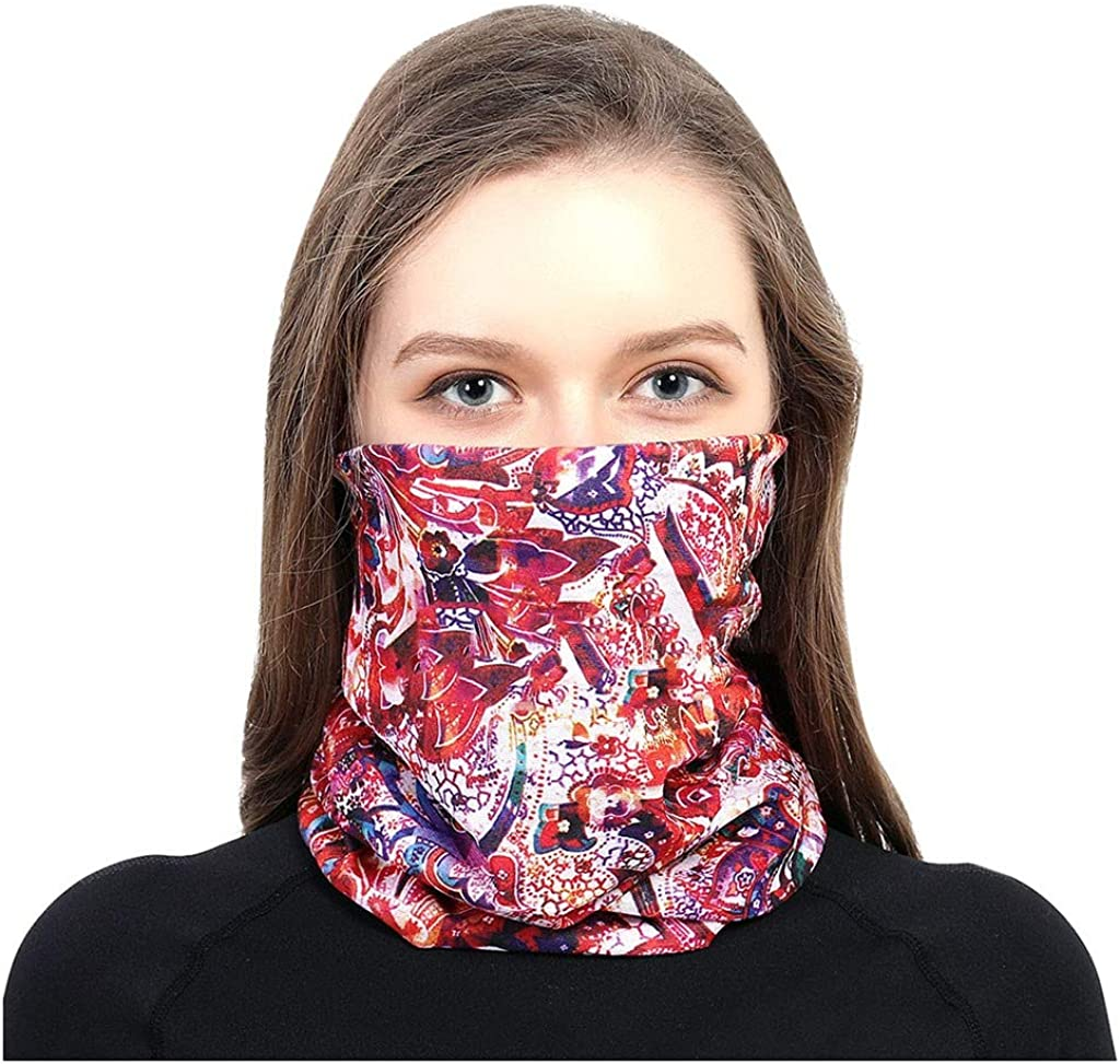 Juliyues Damen Schlauchschal Gesichtsmaske Multifunktionstuch Outdoor Riding Halstuch Kopftuch Motorradmaske Sturmmaske Bandana Schlauchtuch Schutztuch f/ür Motorrad Fahrrad Ski Mode