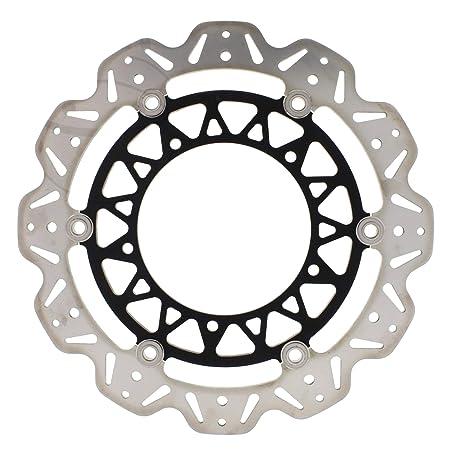 1x Front Brake Disc For Yamaha Yzf R1 1000 04 06 Ebc Vr209 4blk