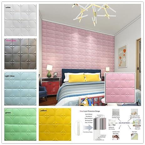 Amazon.com: Wall Sticker, Lotus.flower Noise Reduction PE Foam 3D ...
