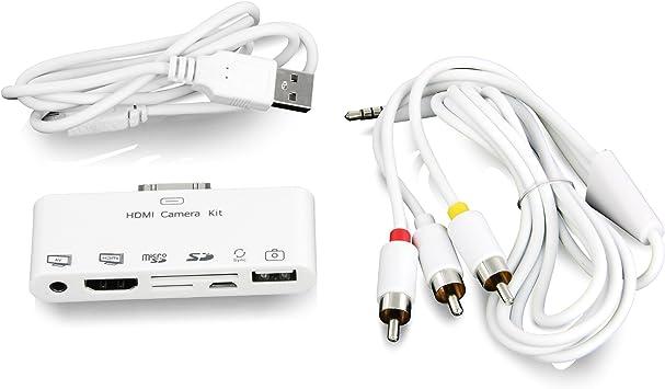 LEICKE® Hebron - 6 en 1 Puerto de conexiones para iPad | HDMI ...