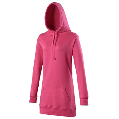 Awdis Girlie Womens Longline Hooded Sweatshirt / Hoodie at Amazon ...