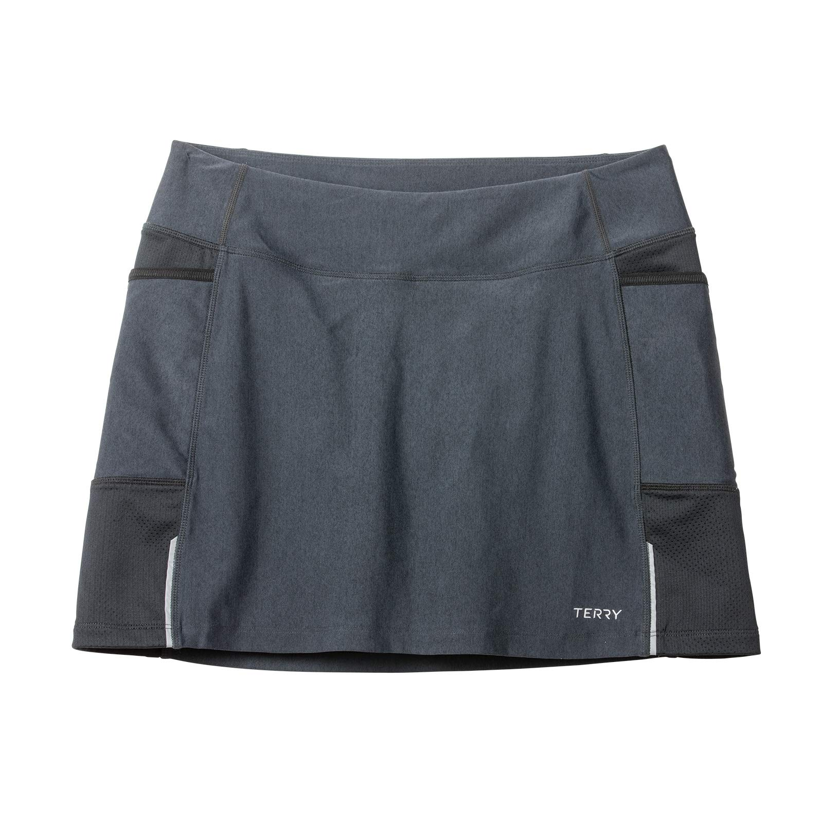 Terry Fixie Skort Women's Cycling Athletic Sport Skirt Stretch Wrap with Padded Chamois Liner Bike Shorts - Black Pepper - Large by Terry