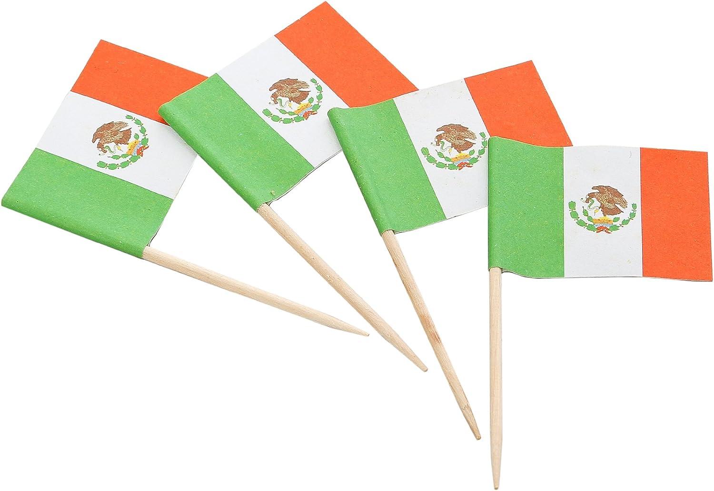Mexican Flag Picks 50//Pkg
