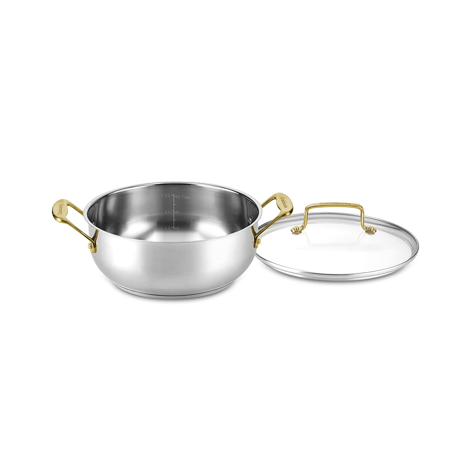 Cuisinart C7M44-24GD Mineral Collection Dutch Oven with cover Medium Stainless Steel