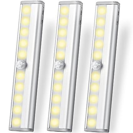 Barra de iluminación LED Olixar - Funciona a pilas - Detector de movimiento - Sin instalación