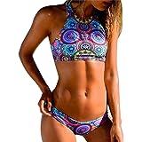 139117b0ade583 OverDose Frauen Bikini Set Bandage Push-Up gepolsterter BH Strand Bademode  Damen Badeanzug Badeanzüge
