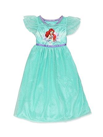 4e6b40cc2a668 The Little Mermaid Ariel Girls Fantasy Gown Nightgown Pajamas (4, Green)