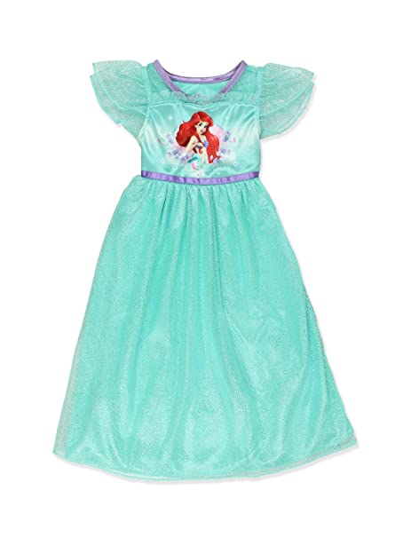 Amazon.com  The Little Mermaid Ariel Girls Fantasy Gown Nightgown ... ee7278022